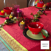 """Isaphire Rubis Tablecloth 69""""x120"""", Green Sweet"""