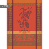 "Physalis Rust Kitchen Towel 22""x30"", 100% Cotton"