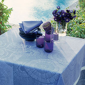 "Sunshine Blue Tablecloth 61""x61"", Cotton"
