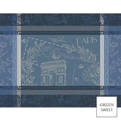 Carte Arc Triomphe Bleu Placemat, GS Stain Resistant-4ea