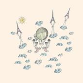 Montgolfieres Vintage Napkin, Linen-4ea