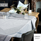 """Imperatrice Hermine Tablecloth 69""""x163"""", Green Sweet"""