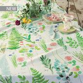 "Mille Herbier Printemps Tablecloth 61""x102"", Metis"