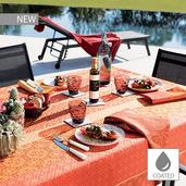 "Mille Bastides Garance Tablecloth 59""x59"", Coated Cotton"