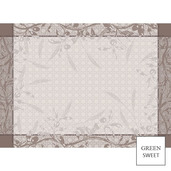"""Placemat Persephone Sepia 22""""x16"""", GS Stain Resistant - 4ea"""
