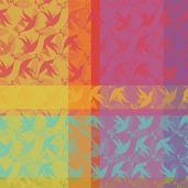 """Mille Colibris Antilles Napkin 22""""x22"""", Cotton - 4ea"""