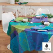 "Tablecloth Round Mille Fiori Sous Bois Round 69"", Coated Cotton - 1ea"