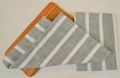 Dobby stripe Kitchen Towel Sage, 100% Cotton