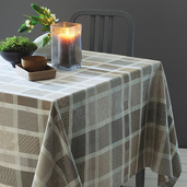 "Mille Ladies Argile Tablecloth 71""x118"", 100% Cotton"