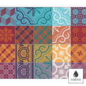 Mille Tiles Multicoloured Placemat, Coated-4ea