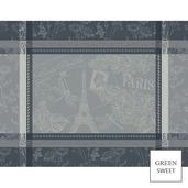 Carte Tour Eiffel Anthracite Placemat, GS Stain Resistant-4ea