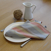 """Camini Multi-Color Striped Bistro Napkin 22""""x23"""", 100% Cotton"""