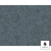 """Mille Charmes Grey Placemat 16""""x20"""", Coated Cotton"""