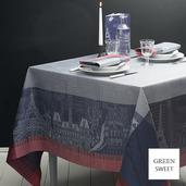 """Parisienne Ardoise Tablecloth 69""""x100"""", GS Stain Resistant"""
