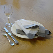 Intramuri Grey Napkin, Slub Cotton-4ea