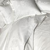 """Opera Blanc Flat Sheet 106""""x122"""", 100% Cotton"""