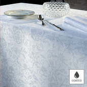 "Mille Charmes Blanc Tablecloth Round 69"", Coated"