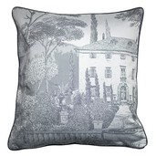 "Palazzina Fusain Cushion Cover 20""x20"", Cotton-2ea"