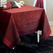 """Paysage Scarlet Tablecloth 69""""x120"""", GS Stain Resistant"""