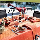 "Mille Bastides Garance Tablecloth 61""x61"", 100% Cotton"