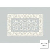 """Imperatrice Uni Argent Placemat 21""""x15"""", Green Sweet"""