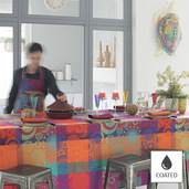 Mille Tornades Pop Tablecloth round 69, Coated
