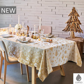 """Mille Merry Gold Tablecloth 59""""x59"""", Coated Cotton"""