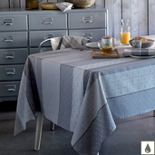 """Mille Bastides Charbon Tablecloth 59""""x87"""", Coated Cotton"""