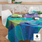 """Mille Fiori Sous-Bois Tablecloth Square 69""""x69"""", Coated"""