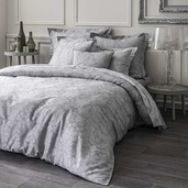 Velvet Grey Duvet Cover, Queen, Cotton - 1ea