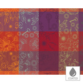 "Mille Alcees Feu Placemat 16""x20"", Coated Cotton"