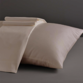 Divine Collection Taupe Standard/Queen Set of Two Pillow Cases 600TC, 100% ELS Cotton.
