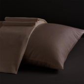 Divine Collection Taupe King Set of Two Pillow Cases 600TC, 100% ELS Cotton.