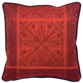 "Cassandre Grenat Cushion Cover  20""x20"", 100% Cotton"