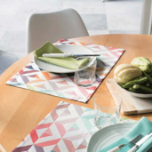 Mille Twist Pastel Placemat, Coated-4ea