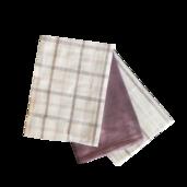 Soft Lavendar Kitchen Towels - 3PC SET