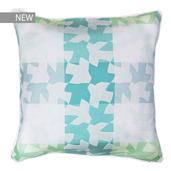 """Mille Hirondelles Menthol Cushion cover 16""""x16"""", 100% Cotton"""
