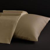 Desire Collection Ivory Queen Sheet Set 400TC, 100% ELS Cotton, Plain Sateen.