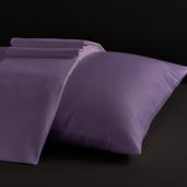 Desire Collection Lilac Queen Sheet Set 400TC, 100% ELS Cotton, Plain Sateen.