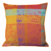 "Mille Couronnes Jubile Cushion Cover  16""x16"", 100% Cotton"