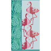 Miami Flamingo Beach Towel