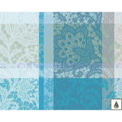 "Mille Dentelles Turquoise Placemat 16""x20"", Coated Cotton"