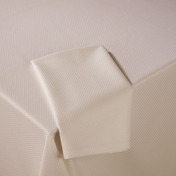 Pack of 12 Diamond Ivory Cotton Napkin