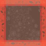 """Napkin Poetree Rose 21""""x21"""", Cotton - 4ea"""