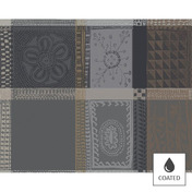 Placemats Mille Wax Cendre, Coated - 4ea