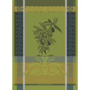 "Olivier Vert Brumeux Kitchen Towel 22""x30"", 100% Cotton"