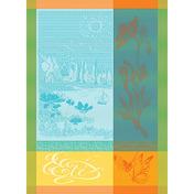 """L'Ete Turquoise Kitchen Towel 22""""x30"""", Cotton"""