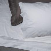 Normandie White 300TC Queen Pillow Cases -2ea