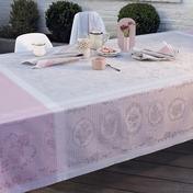 "Lysandra Rose Tablecloth 69""x69"", Green Sweet"