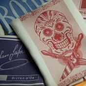 Pack of 12 Bistro Skull Logo Napkin